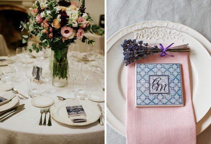 Wedding favor ideas azulejos coasters