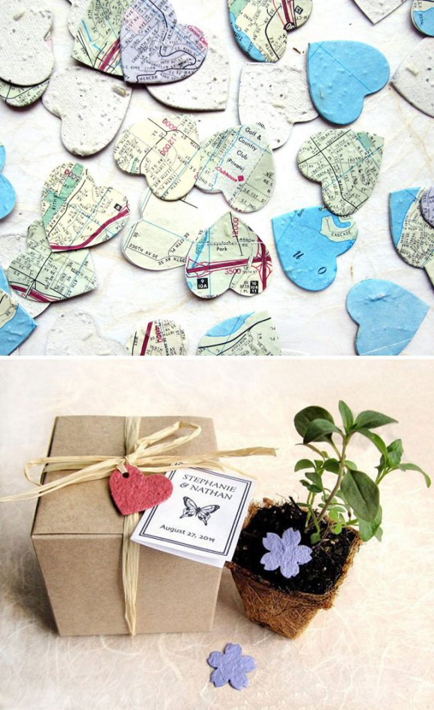 Wedding favor ideas seed paper