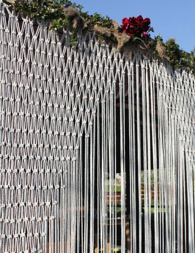 Macrame dekoracija arkai ar fotosienelei