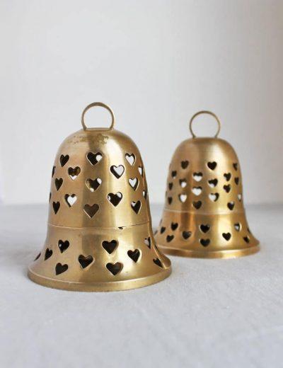 Žvakidės - varpeliai su širdelėmis